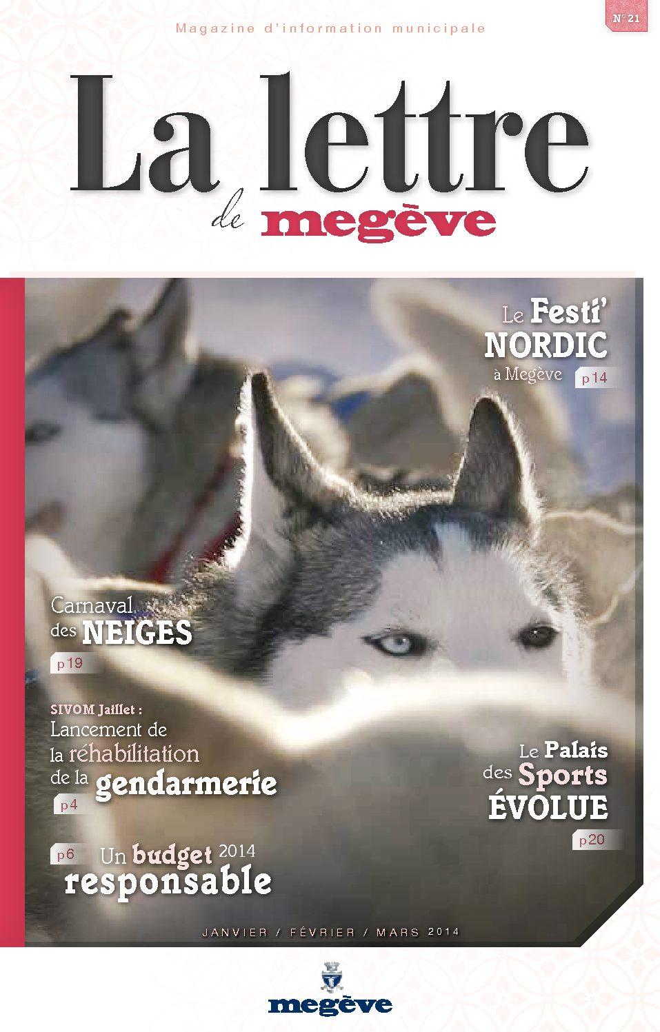 photo de couverture de La Lettre de Megève 21