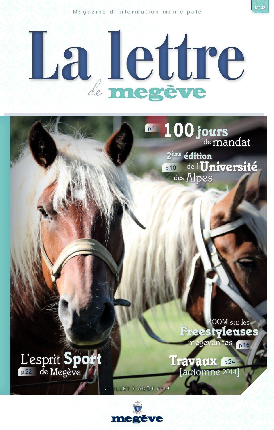 photo de couverture de La Lettre de Megève 23